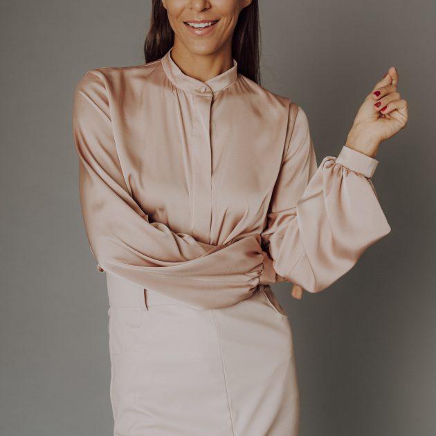 Koženková sukňa SVETLO RUŽOVÁ