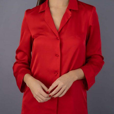 saténové pyžamo červené lassak shop