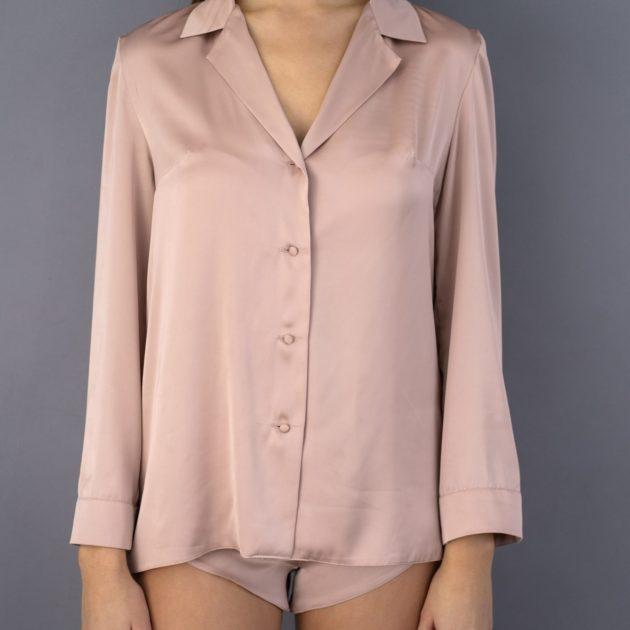 saténové pyžamo orieškové krátke lassak shop