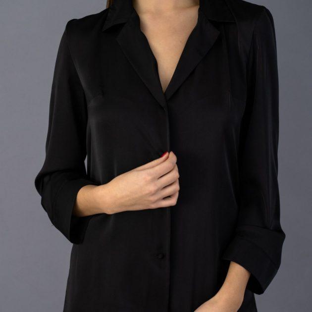 saténové pyžamo čierne lassak shop