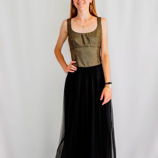 Dlhé šaty s tylovou sukňou