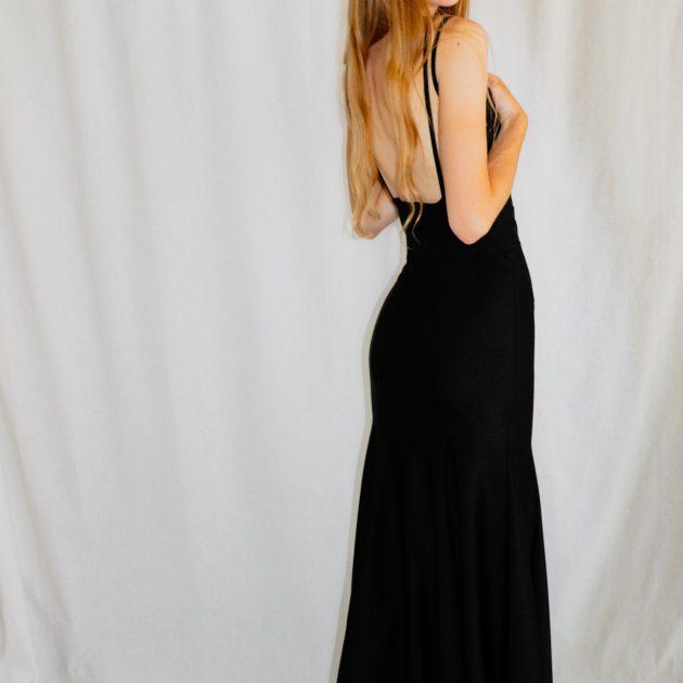 Dlhé šaty ČIERNE 2