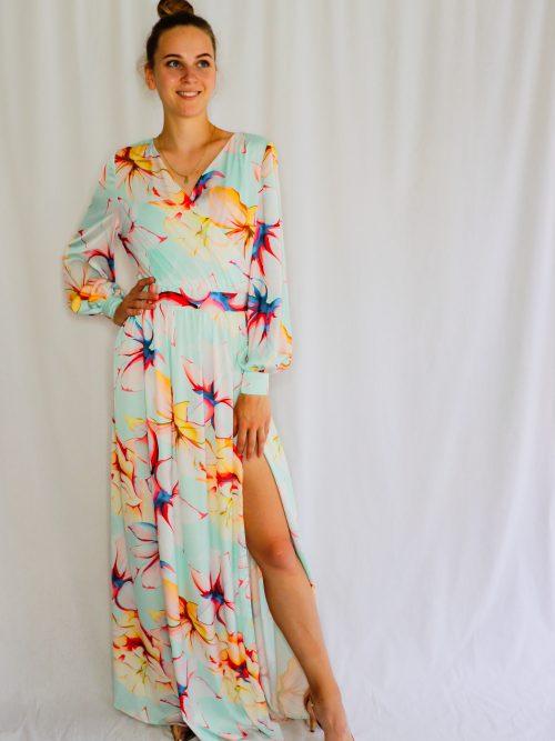 Dlhé kvetované šaty