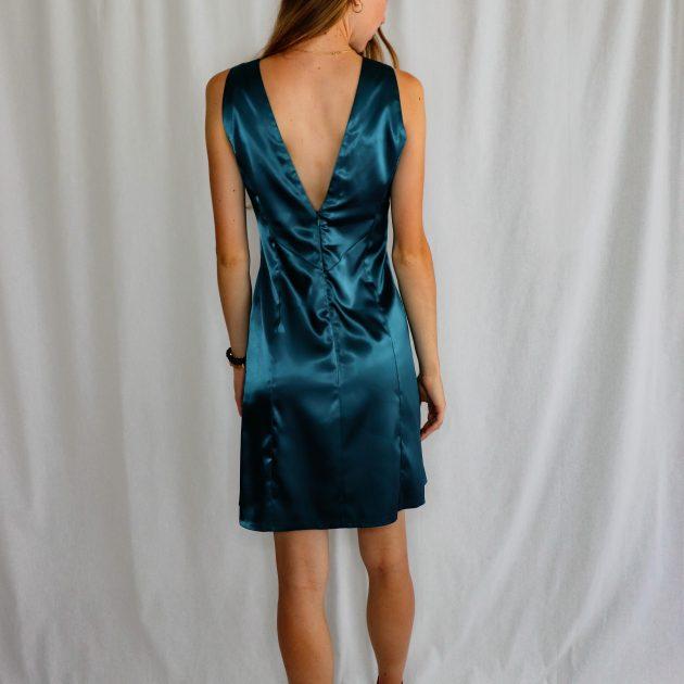 Krátke šaty SMARAGDOVÉ 3