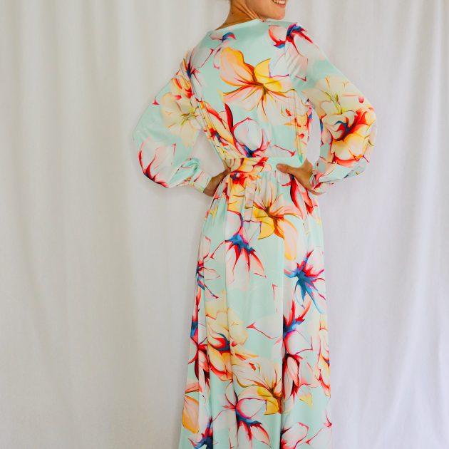 Kvetované dlhé šaty
