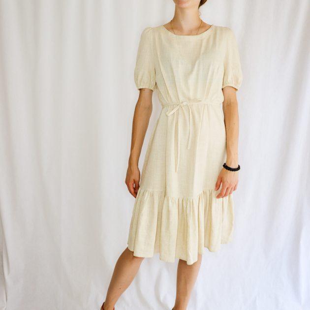 Ľanové šaty s volánom 2