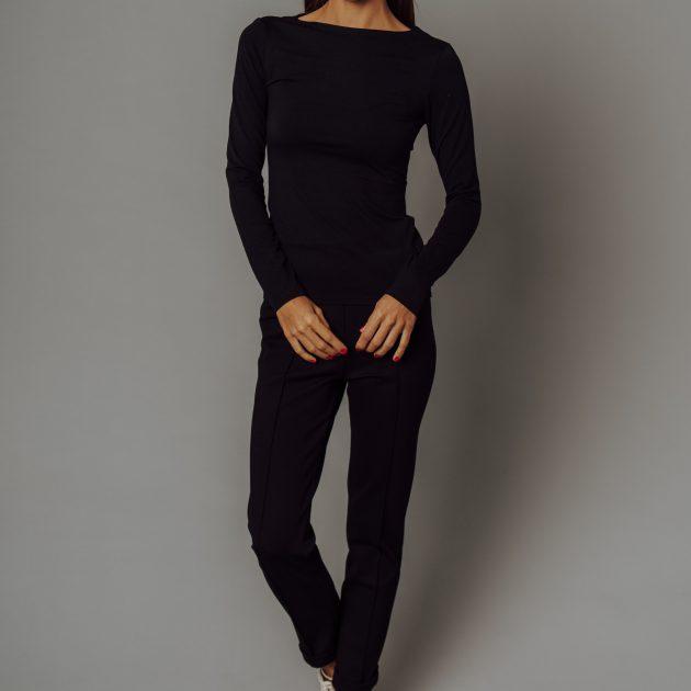 Čierne tričko, dlhý rukáv