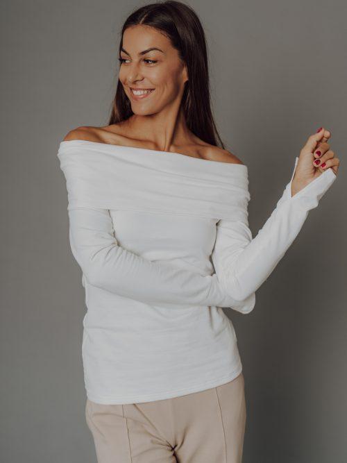 Tričko s výstrihom, Biele