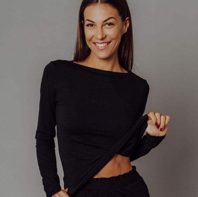 Čierne tričko - basic